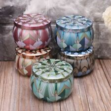 Retro Flower Metal Sugar Coffee Tea Tin Jar Container Candy Sealed Cans Boxes