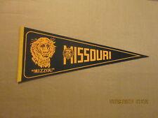 """NCAA University Of Missouri """" MIZZOU"""" Vintage 1970's Logo College Pennant"""