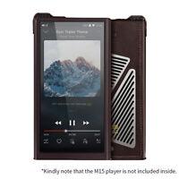Braune Lederschutzhülle Stoßfeste Hülle für den FiiO M15 Music Player ZSD