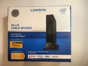 LINKSYS DOCSIS 3.0 24x8 CABLE MODEM CM3024 Easy Set Up Simple Use Gaming