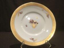 "Royal Copenhagen Golden Basket Salad Plate 595 10521 7 3/4"" Dia Gold"