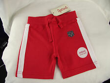 BNWT Little Boys Size 1 Myer Sprout Brand Red/White Soft Jersey Knit Shorts