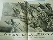 WWI The loan of the Libération War French Print 1918 Illustration