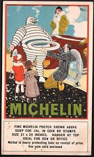 Automobile - René Vincent. Michelin. Vers 1914. Bibendum