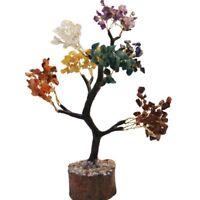 Reiki Gemstones Multi-Stone Spiritual Tree Feng Shui Vastu Table Home Decor
