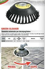 SPAZZOLA FERRO PROFESSIONALE DECESPUGLIATORE Universale BETONELLA  Green Cleaner