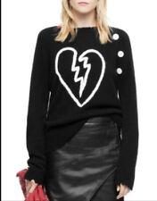 Zadig & Voltaire Cashmere Reglis Bis C Sweater Black