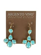 Argento Vivo 124720 Semiprecious Stone Drop Earrings