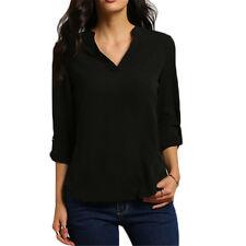 Summer Women's Loose Long Sleeve Chiffon Casual Blouse Shirt Tops Fashion Blouse