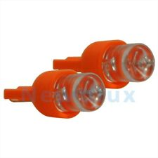2 LED 194 AMBER LIGHT BULB WEDGE BASE~LICENSE PLATE/TURN SIGNAL/SIDE MARKER LAMP