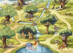 Christmas gift Disney wallpaper children's bedroom photo wall mural Winnie Pooh