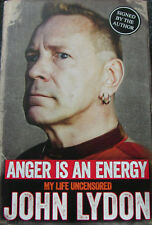 JOHN LYDON+ANGER IS AN ENERGY+SIGNED BOOK+ROTTEN=100% GENUINE+FAST GLOBAL SHIP
