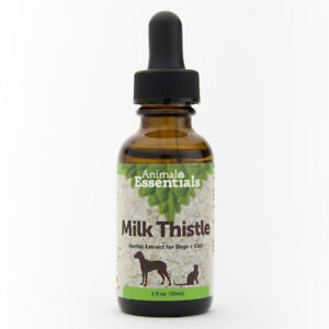 Animal Essentials Milk Thistle 1 oz | Herbal Extract for Dogs and Cats