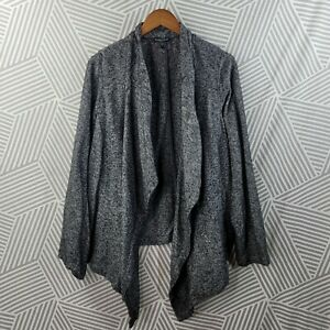 Eileen Fisher Sweater Plus Size 3X 22/24 Open Front Drape Cardigan Stretch Gray