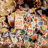 46pcs/lot Autumn Fallen leaves Plant Paper Diary Mini Cute box Stickers sBB