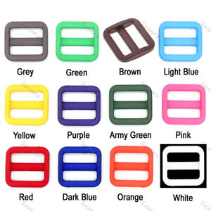 "12pcs/pack 3/4""(20mm) Colorful Triglides Adjust Belt Buckle Backpack Accessories"