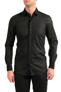 "Hugo Boss Men's ""Jalton"" Black Slim Fit Long Sleeve Dress Shirt US 14.5 IT 37"