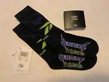 VETEMENTS Socks Logo Jacquard in Black Purple, US 5-8