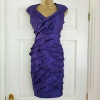 M&CO Boutique Purple Layer Tier Dress Ruffle Frill Wedding Party Cruise 14