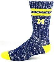 Michigan Wolverines NCAA Alpine Crew Socks Navy and Yellow