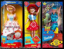 "Bo Peep Doll Toy Story 2 Jessie Square Dance Tour Guide Barbie Disney Lot 3 SWB"""