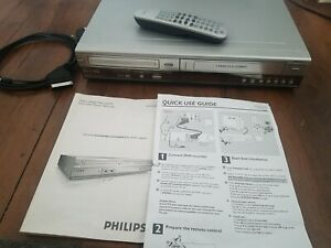Phillips DVDR3320V DVD/VHS Recorder Combi/VCR With Remote And Instructions