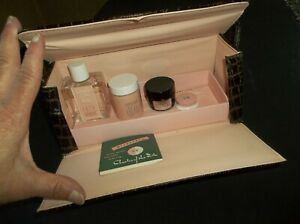Vtg Charles of the Ritz Faux Crocodile Alligator Makeup Skin Care Case w Product