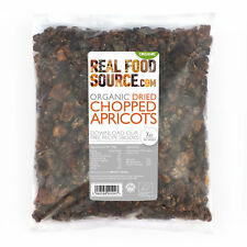 RealFoodSource -Organic Dried Chopped Apricots (Unsulphured) 1KG