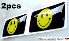 2pcs Hot Auto Car Smiled Label Logo Abzeichen Styling Sticker Universal 1A-Qualy
