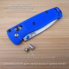 Benchmade 535 BUGOUT 2 Piece Custom RAW Titanium Pivot Screw Set - NO KNIFE