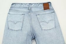 Guess Womens Lincoln Slim Straight White Painted Jeans Size 32 Cotton N08