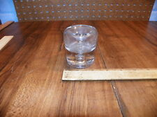 1876 Clear Glass Base Funnel / Common Sense Inkwell
