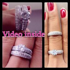 Lab-Created Very Good Sterling Silver Fine Diamond Rings