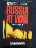 Russia at War: 1941-1945 Werth, Alexander