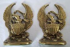 New ListingPatriotic E Pluribus Unum Bald Eagle Patriotic Bookends - Cast Metal
