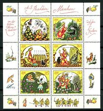 Germany DDR 1984 Sheet of 6 Pushkin Fairy Tales MNH Scott's 2451 Michel 2914-19