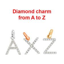 A to Z Initial Diamond Charm in 14K Gold, Diamond Charm, Initial Charm