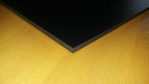 """1/4"""" Black Starboard 12"""" x 18"""" - Great for Boat Helm Areas"""