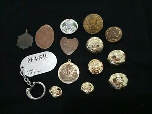 ☭Military Army Buttons + Old Medals Badges