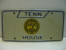1973 Tennessee License Plate    HOUSE and The Great Seal      Vintage   as5161