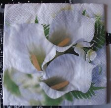 "Lot 3 serviettes en papier ""Trio d'arums"" (Paper Napkins)"
