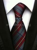 Mens Classic Stripe Silk Tie Necktie JACQUARD Neck Ties Best Man Wedding gift