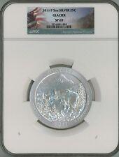 2011 P 25c 5 oz Specimen Silver ATB America Beautiful - Glacier SP69 NGC