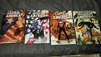 Captain america lot of 4 Hardcovers Brubaker death lives Winter soldier