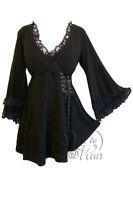 Plus Size Black Gothic Renaissance Victoria Corset Lace Top 1X 2X 3X 4X 5X