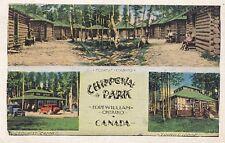 Chippewa Park Tourist Camp FORT WILLIAM Ontario Canada 1936 Valentine-Black PC