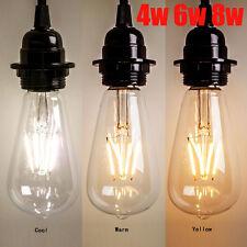 Vintage Retro Edison E27 4W 6W 8W Screw LED Filament Light Bulb ST64 Globe Lamp