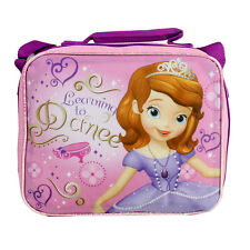 DISNEY PRINCESS SOFIA THE FIRST School Kids INSULATED TOTE LUNCH BAG w STRAP