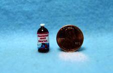 Dollhouse Miniature Replica Bottle of Cranberry Juice ~ HR55069