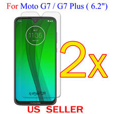 """2x Clear LCD Screen Protector Guard Cover Film For Motorola Moto G7/G7 Plus 6.2"""""""